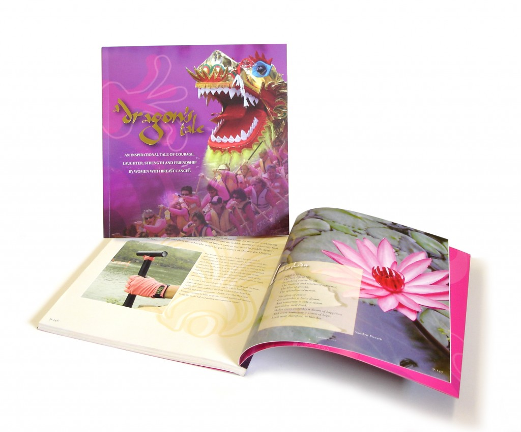 "Dragons Abreast's coffee table book, ""A Dragon's Tale""."